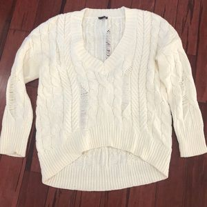 Express V neck sweater. Size medium
